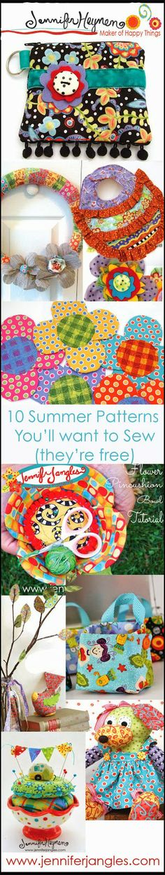Jennifer Jangles Blog: 10 Summer Patterns You'll Want to Sew, They're Free!