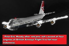 CGI illustration of British Airways' Speedbird 9 descending without power, surrounded by St. British Airways Flight 9, 747 Jumbo Jet, Civil Aviation, Abandoned Cars, Aircraft Pictures, Boeing 747, Circle Of Life, Important Dates, Global Warming