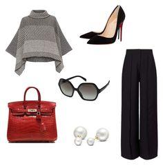 """Luxurious Look"" by hanakalesic on Polyvore featuring moda, Piazza Sempione, Miss Selfridge, Hermès, Christian Louboutin, Allurez i Prada"