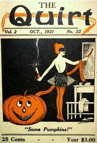 A Nostalgic Halloween: Halloween Cover, The Quirt, Oct. 1921