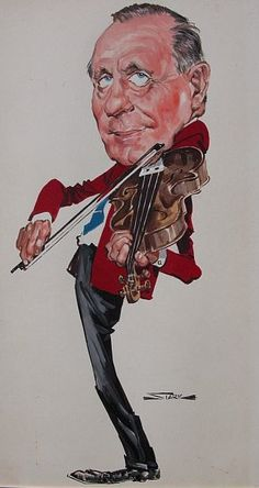 #Caricature ~Jack Benny (by Bruce Stark) ~ http://dunway.com/