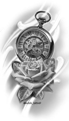 Forarm Tattoos, Tattoos Arm Mann, Rose Tattoos, Time Clock Tattoo, Clock And Rose Tattoo, Clock Tattoos, Clock Tattoo Design, Floral Tattoo Design, Owl Tattoo Drawings