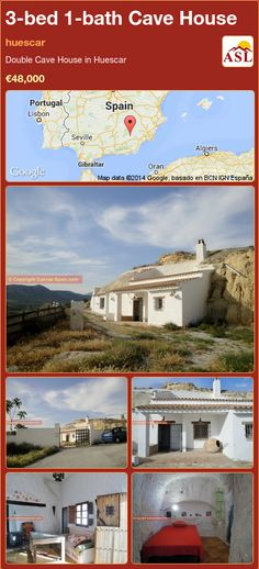 Cave House for Sale in huescar with 3 bedrooms, 1 bathroom - A Spanish Life Cave House, Portugal, Spanish, Construction, Mansions, Bathroom, House Styles, Bed, Water