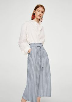 Striped crop trousers - Women. Cropped Trousers · Trousers Women · Mango ·  Spring Fashion ... d7cf7417c7
