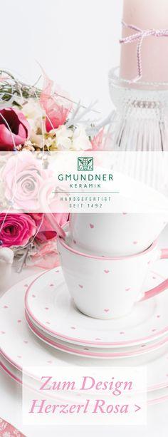 Die perfekte Liebeserklärung in Rosa - handgefertigt seit 1492 aus der Gmundner Keramik Manufaktur Deer, Tea Cups, Tableware, Pink, Gourmet, Tea Cup, Coffee Cups, Handmade, Dinnerware