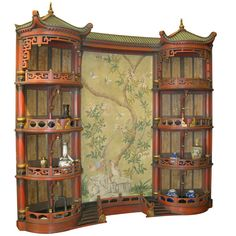 Vintage Chinoiserie Pagoda Display Cabinet By Chinoiserie Chic - Vintage Chinoiserie Pagoda Display Cabinet By Chinoiserie Chic - Chinoiserie Wallpaper, Chinoiserie Chic, Custom Furniture, Antique Furniture, Asian Furniture, Victorian Furniture, Steel Furniture, Deco Furniture, Furniture Outlet