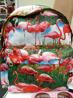 Okay, i know this backpack is for kids . . . Hot pink flamingo print bag from Molo for summer 2013