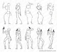 Stock Practice 6 - Mmm, Gunny by AzizlaSwiftwind on DeviantArt - Anatomy sketches -Woman Stock Practice 6 - Mmm, Gunny by AzizlaSwiftwind on DeviantArt - Anatomy sketches - Body Reference Drawing, Body Drawing, Drawing Base, Art Reference Poses, Anatomy Reference, Anatomy Drawing Practice, Gesture Drawing Poses, Hand Reference, Anatomy Sketches