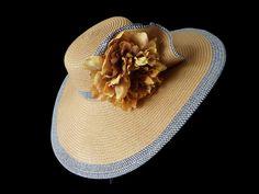 Sun Hat Summer Hat Straw Hat Race Day Hat by IfTheHatFitsByJackie, $44.00