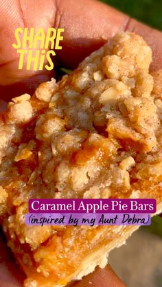 Apple Dessert Recipes, Apple Crisp Recipes, Delicious Desserts, Apple Deserts, Yummy Food, Apple Pie Bars, Apple Pie Recipie, Recipe Using Apples, Dessert Bars
