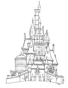 1001 coloriages chteaux disney chateau princesse coloriages princesses patron de coloriage fete eliane chevaliers neiges dessins