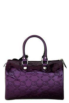 "Purple Patent ""Hello Kitty"" purse. ADORABLE!"