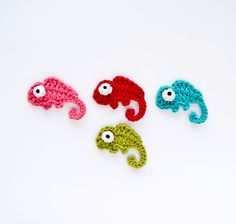 Chameleon Applique Crochet Pattern by One and Two Company, via Flickr