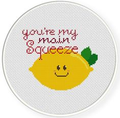 FREE for Feb 28th 2014 Only - You're my main squeeze Cross Stitch Pattern