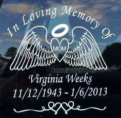 In Loving Memory Of Decal Laptop Decal By SomethinSchnazyGifts - Window decals in memory of