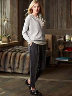 pleat front pants never leave, worn right - they are timeless essentials