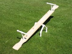 PVC kids teeter totter or see saw. Pvc Pipe Crafts, Pvc Pipe Projects, Diy Art Projects, Backyard Projects, Outdoor Projects, Wood Projects, Backyard Ideas, Outdoor Games, Outdoor Fun