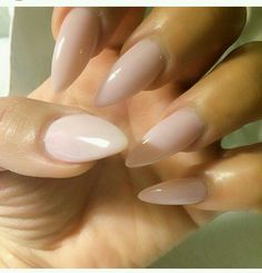 Nude stilletto nails