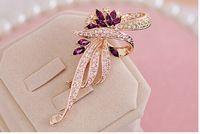 Alta alabanza de amor de corea del sur edición de han mujeres broches cristal broche que restaura maneras antiguas B10 H054