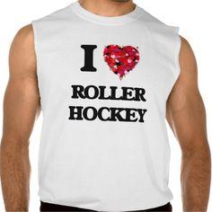 I Love Roller Hockey Sleeveless Tees Tank Tops