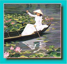 Vietnamese Artwork-Oil Painting-Asian Art-Oriental Painting-Phi Loc