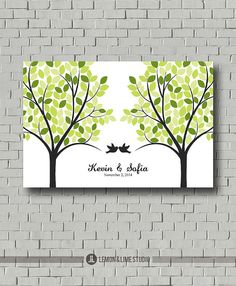 I really think the two trees are cute.  Wedding Tree - Guest Book Tree