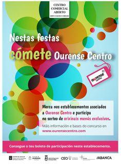Comprando en los establecimientos asociados a Ourense Centro podrás participar en el sorteo de originales menús exclusivos.