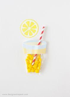 lemonade party favor printable