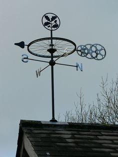 Weather vane at Box Hill by Surbiton Arts Lab, via Flickr