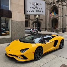 Lamborghini Aventador S Roadster painted in Giallo Orion Photo taken by: @lamborghinigoldcoast on Instagram
