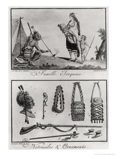 Iroquois Native Canadian Indian Tattoos   Artist: Grasset de Saint Sauveur, Jacques, 1757-1810.  Engraver: Mixelle, Jean-Marie active late 18th century. Credit: Library and Archives Canada