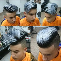 Sliver Blonde hair color for men