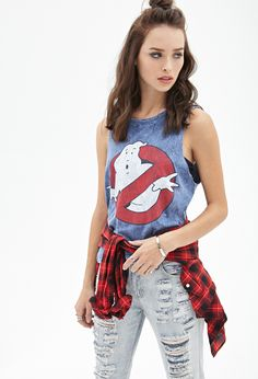 Distressed Ghostbusters Muscle Tank - Shop All - 2000081699 - Forever 21 EU
