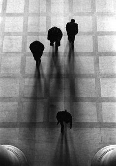 """ George Zimbel - Going to Class, MIT, 1958 """