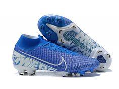 Cheap Nike Football Boots - Nike Mercurial Superfly VII Elite FG Blue Hero White Volt Obsidian - No Lace Soccer Cleats - Firm Ground - Mens Cool Football Boots, Soccer Boots, Soccer Cleats, Neymar Jr, Bola Nike, Nike Mercurial Superfly, Monster Energy Supercross, Hero, Adidas