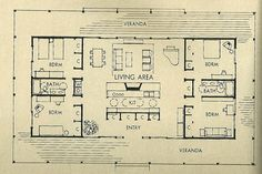 Mid Century Modern House Plans | mid-century house plans. | i.heart.living.in.portland.oregons Blog
