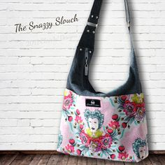 Slouch Handbag PDF Sewing Pattern   Snazzy Slouch by ChrisWDesigns