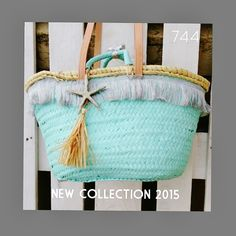 sietecuatrocuatro: NEW COLLECTION ... NUEVA TEMPORADA 2015 ... CAPAZOS DE 744 capazos-beach-bags-summer-verano-sol-sun-playa-beach Diy Straw, Straw Bag, Beach Stores, Beach Basket, Straw Handbags, Ibiza Fashion, Art Bag, Basket Bag, Cute Purses