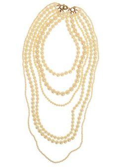 Modcloth Pearl Glam Necklace Mix it with grunge-inspired jeans, an oversized tee, and a black leather cuff, and tour around town in undeniable splendor! Collar Necklace, Pearl Necklace, Beaded Necklace, Beaded Collar, Necklace Chain, Wedding Accessories, Jewelry Accessories, Jewelry Ideas, Modcloth Wedding