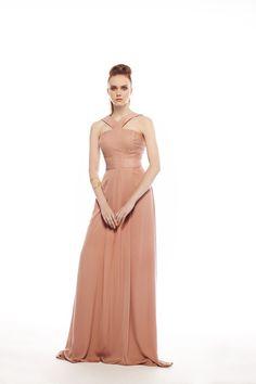 Βραδυνό Φόρεμα Μάξι με Παρτούς Ωμους και Λαιμοδέτη για Γάμο και Βάπτιση 14729b813ba