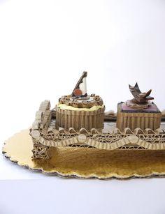 Fancy Chocolate Petits Fours On A Silver Tray by artonthemenu, $120.00