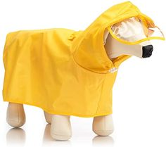 """Amazon.com : Hollypet Dog Raincoat for Small to Medium Puppy Cat Dog Protect Dogs Abdomen Belly Rain Clothes Jacket, Yellow, Back Length 19.7"""" : Pet Supplies Dog Raincoat, Small Puppies, Large Animals, Pet Supplies, Baby Car Seats, Outdoor Recreation, Pets, Jackets, Clothes"""