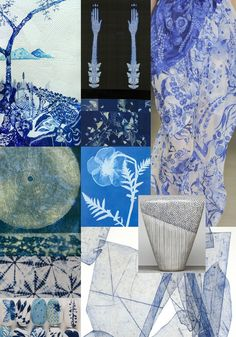 Inspiration for Spring / Summer 2013 – Prints inspired by Indigo dyed cloths – Wax resist techniques – Hand drawn botanicals – Photographic prints – Japanese themes