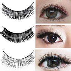 Acevivi New Fashion Women\'s 10Pairs Long Cross False Eyelashes Makeup Natural Fake Thick Black Eye Lashes Extension