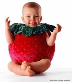 Baby fruit photo idea, strawberry