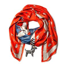 The little zebra! EXPEDITION AFRICA - Silk Scarf @bottica