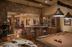 Luxurious  man cave // Southwestern Ranch - Luxury Calvis Wyant Homes