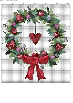 ideas embroidery patterns cross stitch crossstitch natale for 2019 cross stitch embroidery design ideas native cross stitch for … Cross Stitch Christmas Ornaments, Xmas Cross Stitch, Cross Stitch Heart, Cross Stitch Cards, Christmas Embroidery, Cross Stitch Flowers, Counted Cross Stitch Patterns, Cross Stitch Designs, Cross Stitching