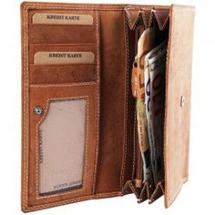 General: Tip: PortofelGeneral Format: cross DamaMaterial: Piele naturalaCuloare: Maro deschis Compartimente bancnote: 7Monede: 1 Credit card: 10 Transp credit card . 2Dimensiune: Latime: 18 cm Inaltime: 10 cm Wallet, Bags, Handbags, Purses, Diy Wallet, Purse, Bag, Totes, Hand Bags