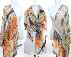 Hey, I found this really awesome Etsy listing at https://www.etsy.com/il-en/listing/212449811/orange-beige-navy-tassel-scarf-winter